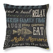 Lake Rules-relax Throw Pillow
