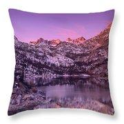 Lake Sabrina Sunrise Eastern Sierras California Throw Pillow