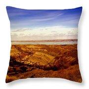 Lake Sakakawea North Dakota Throw Pillow