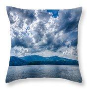 Lake Santeetlah In Great Smoky Mountains Nc Throw Pillow