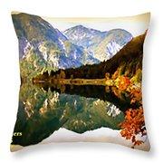 Lake Scene H A Throw Pillow