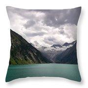 Lake Schlegeis Throw Pillow