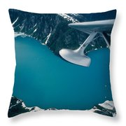Lake Seen From A Seaplane Throw Pillow