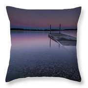 Lake Shaokatan Throw Pillow