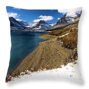 Lake Sherburne Throw Pillow