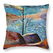 Lake Simcoe Peace Throw Pillow