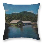 Lake Squam Off Rte. 3 In Holderness Nh Throw Pillow