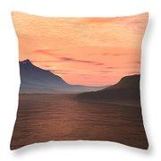 Lake Sunset 1 Throw Pillow