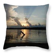 Lake Sunset 11 Throw Pillow