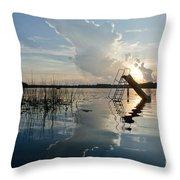 Lake Sunset 5 Throw Pillow