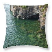 Lake Superior Cliff Scene 7 Throw Pillow