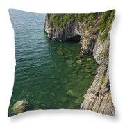 Lake Superior Cliff Scene 9 Throw Pillow