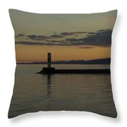 Lake Superior Grand Marais 8 Throw Pillow