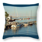 View Of The Harbor Throw Pillow