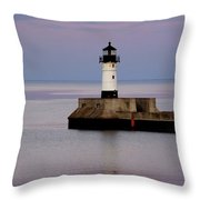 Lake Superior Lighthouse Throw Pillow