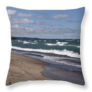 Lake Superior Shoreline Throw Pillow