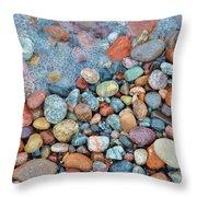 Lake Superior Stones 3 Throw Pillow