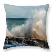Lake Superior Waves Throw Pillow