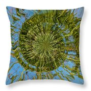 Lake Swirl Throw Pillow