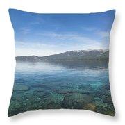 Lake Tahoe Calm Throw Pillow