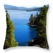 Lake Tahoe From The Rubicon Trail Throw Pillow