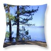 Lake Tahoe In The Morning Throw Pillow