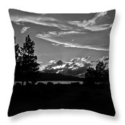 Lake Tahoe Just After Sunset Throw Pillow