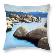 Lake Tahoe Rock Garden Throw Pillow