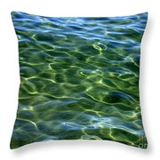 Lake Tahoe Swirls Abstract Throw Pillow