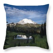 Lake Tipsoo Reflections Throw Pillow