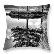 Lake Tree Throw Pillow