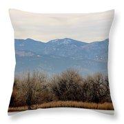 Lake Trees Mountains And Sky Throw Pillow