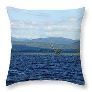 Lake Umbagog Choppy Waters Throw Pillow