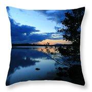Lake Umbagog Sunset  Throw Pillow