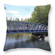 Lake Union Park Throw Pillow