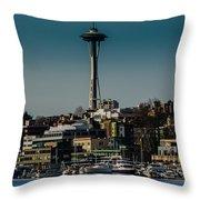 Lake Union Seattle Skyline Throw Pillow