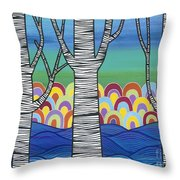 Lake View Throw Pillow by Carla Bank