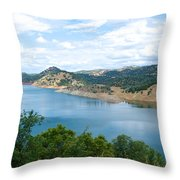 Lake View From Hwy 120 Rest Area Going Into Yosemite Np-ca- 2013 Throw Pillow