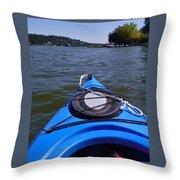 Lake View From Kayak Throw Pillow