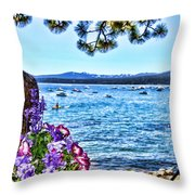 Lake View On Lake Tahoe By Diana Sainz Throw Pillow