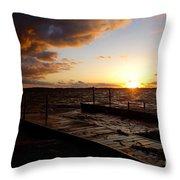 Lake Waconia Sunset Throw Pillow