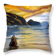 Lake Wahatipu Queenstown Nz Throw Pillow