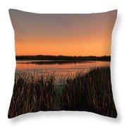 Lake Wausau Marshgrass Throw Pillow