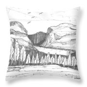 Lake Willoughby Vermont Throw Pillow
