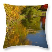 Lake Winona Autumn 13 Throw Pillow