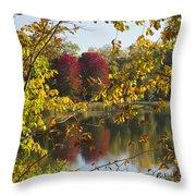 Lake Winona Autumn 15 Throw Pillow