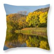 Lake Winona Autumn 8 Throw Pillow