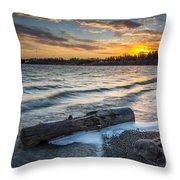 Lake Yankton Minnesota Throw Pillow