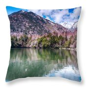 Lake Yunoko Throw Pillow