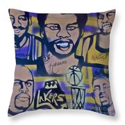 Laker Love Throw Pillow